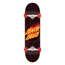 "Santa Cruz Skateboard Complete Flame Dot Black 8.0"" x 31.25"" Assembled"