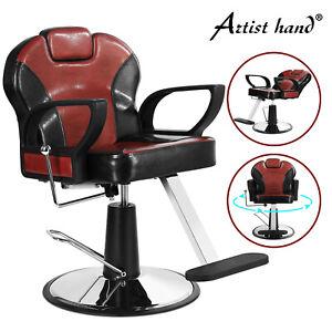 Two Tone Hydraulic Recline Barber Chair Heavy Duty Salon Beauty Spa Hair Styling