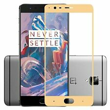 2.5D Tempered Glass Thin Screen Protector Full Cover Film For Oneplus 3 - GOLD