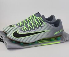 Nike Mercurial Vapor XI AG-PRO Soccer Cleats Platinum Ghost Green Size 13