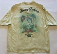 Tommy Bahama Button-Front Shirt Yellow Millennium Martini Graphic Size XL