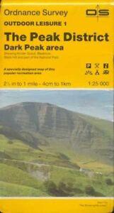 The Peak District: Dark Peak Area (Outdo... by Ordnance Survey Sheet map, folded