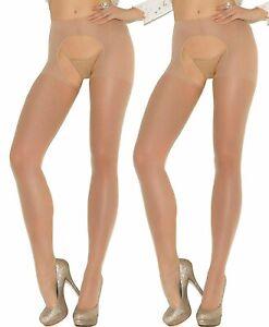 Hosiery Sheer Tights Nude Pantyhose AN1054 Plus Queen 2-Pack