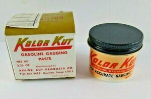 Kolor Kut Gasoline Gauging Paste NIB NOS 2.25 Oz Accurate Made In US Vintage