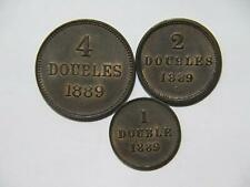 GUERNSEY 1889 H 4 2 1 DOUBLES DOUBLE LOW GRADE WORLD COIN LOT 🌈⭐🌈