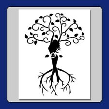 8 X 10 STENCIL Tree of Life Wiccan Spiral Goddess Branches/Roots/Leaves/Pagan