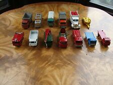Lot of 13 Vintage Lesney Matchbox Series Various Scale Cars, Trucks, Bus,Trailer