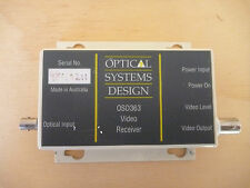 OPTICAL SYSTEMS DESIGN      	OSD363	8MHZ VIDEO RECEIVER FIBER TO COAX.