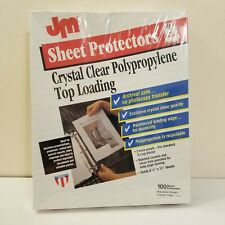 Usa Made Jm Top Loading Sheet Protectors 85x11 100pkg Clear Archival 3 Hole