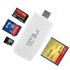 USB 3.0 5Gbps Kartenleser Card Reader Micro SD SDHC CF TF Kartenadapter WEIß