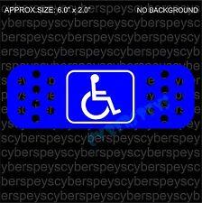 Handicap Sign Band-Aid Style Design Drift Racing Car Vinyl Sticker Decals