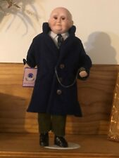 Goldenvale Collection Porcelain Doll Man Holding Pocket Watch Stand Limited