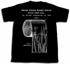 TOILET PAPER PATENT SHIRT L Large TShirt 1891 art OVER UNDER SOLVED