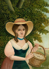 Woman with Basket of Eggs by Henri Rousseau 60cm x 43cm Art Paper Print