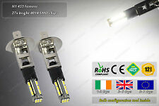 2x LED H1 433 4500k Xenon White Fog Daytime Running Lights DRL Bulbs Lamps W5W