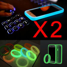 2XUniversal Phone Bumper Case Glow in Dark Luminous Protective Silicone TPU Case