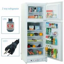 9.7 Cu Ft 2 Way Top Freezer Refrigerator Propane Gas Fridge Family Farm Cabine