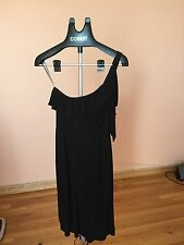 SEE BY CHLOE Black One Shoulder Ruffled Detail  Casual Dress Sz 8