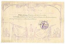 1917 / ARTILLERIE DE LA 74° DIVISION / CITATION A L'ORDRE /