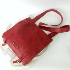 Auth Balenciaga Men Red Lambskin Leather Shoulder Messenger Utility Shoulder Bag