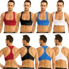 Men Sleeveless Muscle Tank Top Tee Shirt Bodybuilding Sport Fitness Gym Crop Top