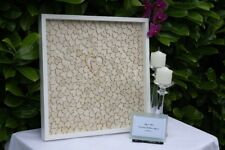 Personalized name & date Signature Heart Drop Top Box Gift Wedding Guest Book