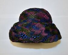Vintage Christian Dior Chapeaux Paris New-York Feather Cloche Hat
