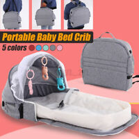 Foldable Portable Baby Bed Sets Backpack Crib Nursery Travel Cot Mosquito Net *