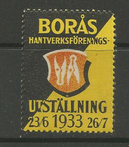 Sweden/Borås 1933 Craft Exhibition poster stamp/label