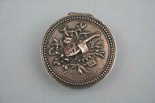 Silberne Dose mit Laute, wohl 19.Jahrhundert