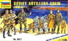Zvezda-SOVIET ARTILLERY CREW ARTIGLIERIA RUSSA RUSSIAN 1:35 KIT KIT NUOVO