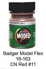 Badger Model Flex 16-163 CN Canadian National Red #11 1 oz Acrylic Paint Bottle