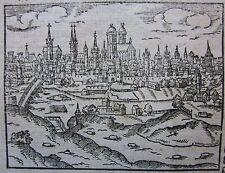 1628 MÜNCHEN Cosmographia Sebastian Münster Henric Petri Cosmographia Bayern