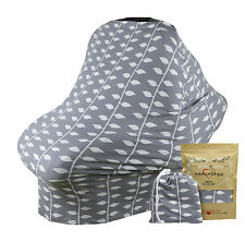 Stretchy 4-1 Baby Car Seat Canopy Nursing Cart Chair Stroller Cover Shower Gift