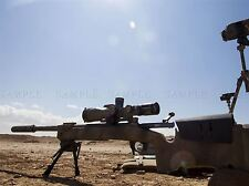 WAR ARMY HARDWARE DESERT SUN SIGHT SHOOT M40A5 SNIPER RIFLE PRINT BB3369A