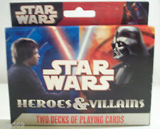 Star Wars heroes and vilains playing cards 2007