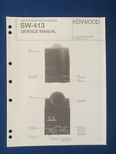 KENWOOD SW-413 POWERED SUBWOOFER SERVICE MANUAL ORIGINAL FACTORY ISSUE GOOD COND