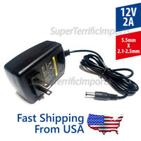 12V 2A Power Supply Adapter AC DC Transformer 5.5mm x 2.1-2.5mm 2000mA 12v2a 1a