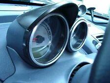 Smart Roadster/2 Stück Alu-Ringe für Tacho und Drehzahlmesser in poliert o. geb