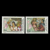 "Monaco 1988 - Red Cross ""Saint Devote Patron Saint of Monaco"" - Sc 1643/4 MNH"