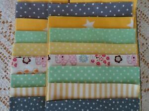 PATCHWORK QUILT KIT to make Baby Cot Blanket Throw in Gender Neutral colours