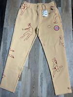 New $150 Puma X Kidsuper Tailored Men's Sz SMALL Honey Peach KS Track Sweatpants