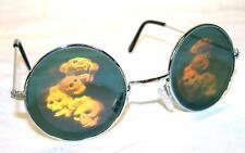STACKED SKULL HEADS  HOLOGRAM 3D GLASSES mens womens glasses HIDE EYES unisex