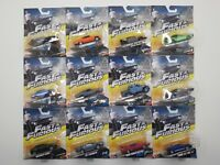 Mattel Fast and Furious Diecast 1:55 Scale Model Car Selection