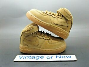 Nike Air Force 1 Mid LV8 Flax Wheat Suede 2016 TD Toddler 859338-200 sz 6C