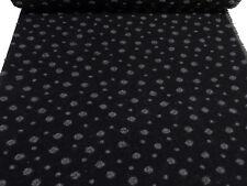 Stoff Ital. Musterwalk Kochwolle Walk Relief Punkte Pünktchen schwarz grau