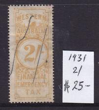 Western Australia: 1931 2/ Financial Emergency Tax.