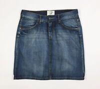 LOGG HM gonna jeans minigonna w28 tg 42 blu azzurro usata donna vita bassa T970