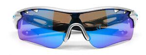 Oakley Men's Radarlock Sport Sunglasses SAPPHIRE Lens Black Frame