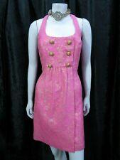 Vestido de Fiesta MILLY of NUEVO YORK. Color de rosa caliente Maquinilla de afeitar Espalda Mini Noche Uk 8